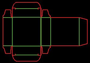 Коробки с металлизацией - штамп 18-4415