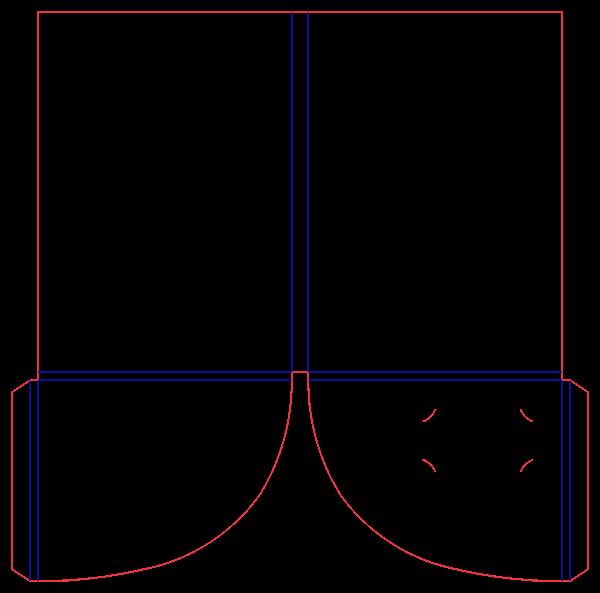 Шаблон папки с клеевыми клапанами 15-2496