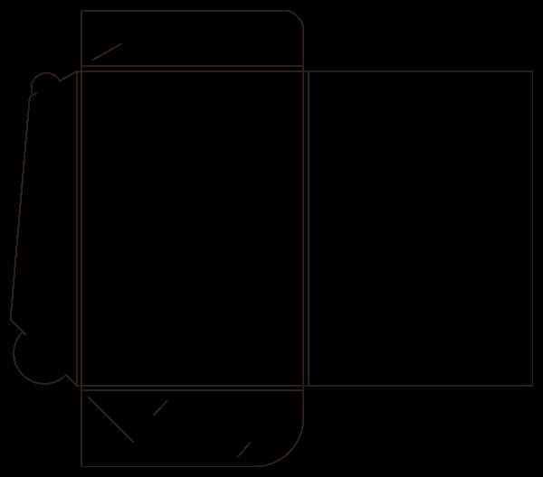 Шаблон папки самосборной 15-1743