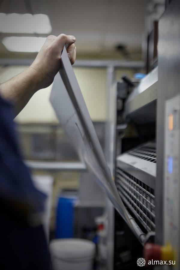 Полноцветная печать - установка печатной формы