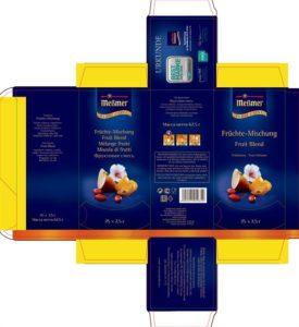 Упаковка для чая - макет - 18-3652