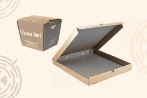 Упаковка для фастфуда из картона