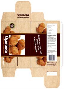 Упаковка для печенья Орешки - макет-15-0999