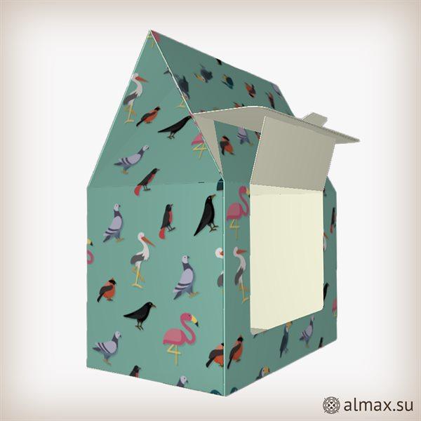 Нестандартная упаковка - коробка-кормушка