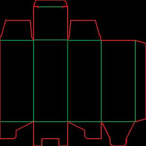 Штамп коробочки 19-3323