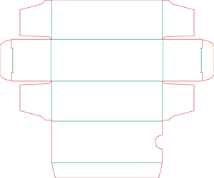 Штамп коробочки 19-4030