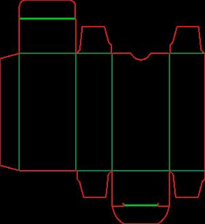 Штамп коробочки 19-4264
